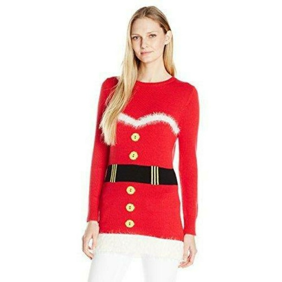 Isabella S Closet Tops Mrs Claus Ugly Sweater Tunic Suit Fur M New